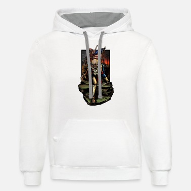 Revolutionary War Revolutionary War American Skeleton Urban Patrioti - Unisex Two-Tone Hoodie