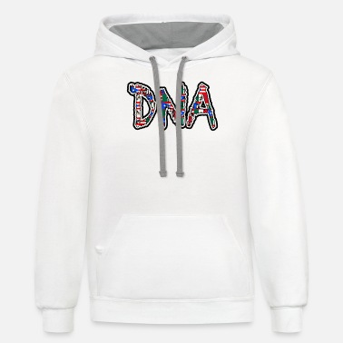 Mexican Puerto Rican Mix DNA Heritage - Unisex Two-Tone Hoodie