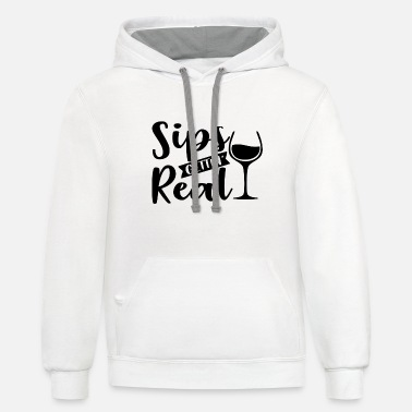 Rose Christmas Wine Drinker Gift - Unisex Two-Tone Hoodie