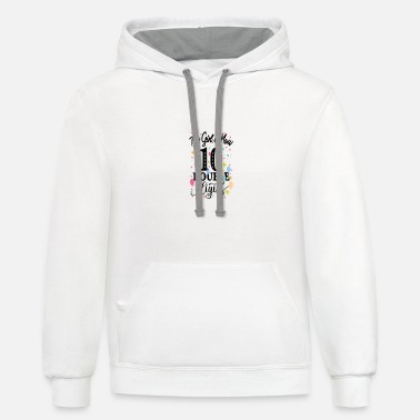 10th Birthday Gifts Shirt This Girl Is Now 10 - Unisex Two-Tone Hoodie
