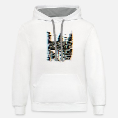 Surrealistic Surrealistic City - Unisex Two-Tone Hoodie