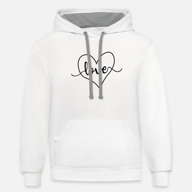 Love Heart Love Heart - Unisex Two-Tone Hoodie