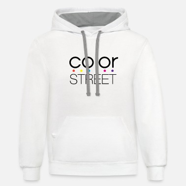 Color Color Street Block Color Logo - Unisex Two-Tone Hoodie