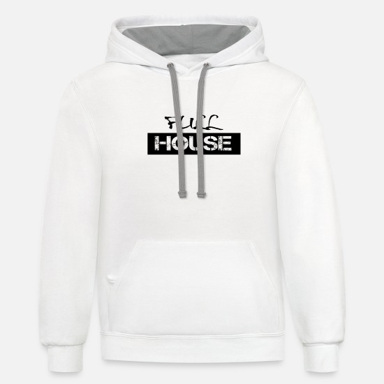 Full Hoodies & Sweatshirts - Full House - Unisex Two-Tone Hoodie white/gray