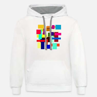Rectangle Rectangles - Unisex Two-Tone Hoodie