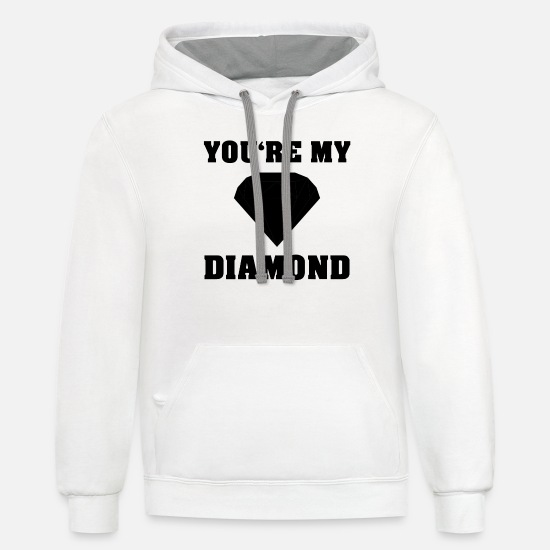 Gift Idea Hoodies & Sweatshirts - diamond - Unisex Two-Tone Hoodie white/gray