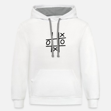 Tac tic tac toe circle wins - black - Unisex Two-Tone Hoodie