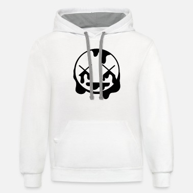 After Rave Smiley - Unisex Two-Tone Hoodie