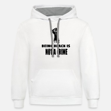 Being black is not a crime - Unisex Two-Tone Hoodie