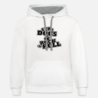Skull Sex dogs - Unisex Two-Tone Hoodie