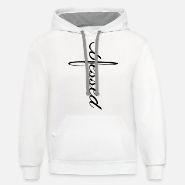 Blessed Cross - Unisex Two-Tone Hoodie