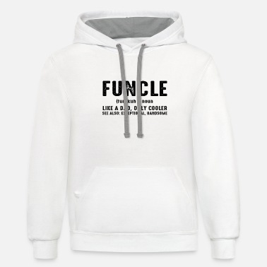 Uncle Cool Uncle Funny T-shirt - Unisex Two-Tone Hoodie
