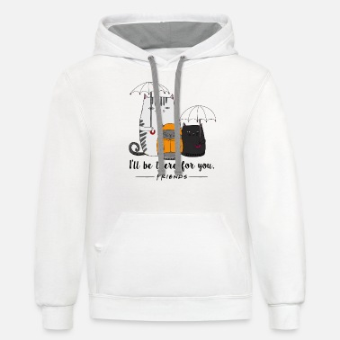 Lung Cancer Funny BE THERE FOR YOU CAT LUNG CANCER - Unisex Two-Tone Hoodie