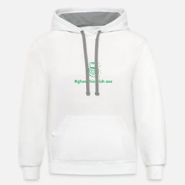 Ghost His Irish Ass - Unisex Two-Tone Hoodie