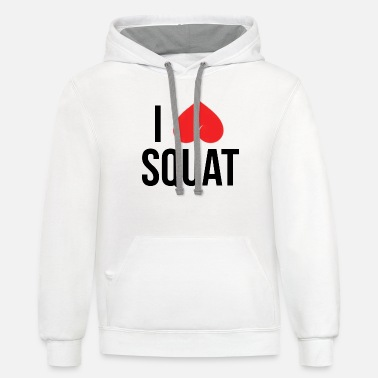 I LOVE SQUAT - Unisex Two-Tone Hoodie