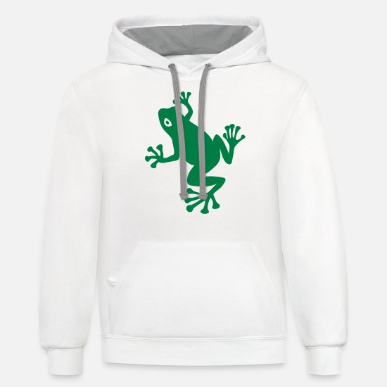 Toxic Hoodies & Sweatshirts - Tree Frog - Unisex Two-Tone Hoodie white/gray