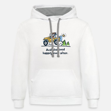 And she lived happily ever after camp - Unisex Two-Tone Hoodie