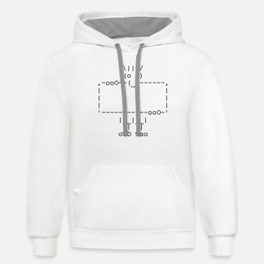 Laugh ascii art: troll - Unisex Two-Tone Hoodie