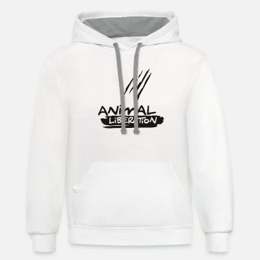 ANIMAL LIBERATION - Unisex Two-Tone Hoodie