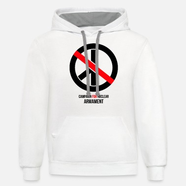 Armament campaign for nuclear armament - Unisex Two-Tone Hoodie