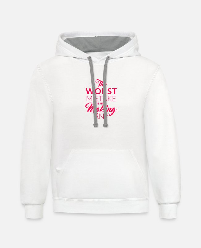 Trial And Error Hoodies & Sweatshirts - Error saying motto Mindset fault tolerance - Unisex Two-Tone Hoodie white/gray