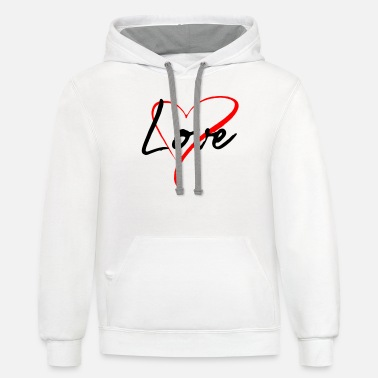Love Love & Heart - Unisex Two-Tone Hoodie