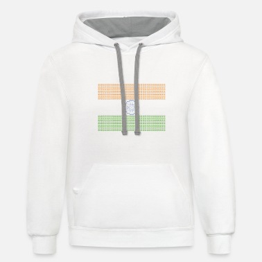 New Delhi Indian Flag New Delhi - Unisex Two-Tone Hoodie