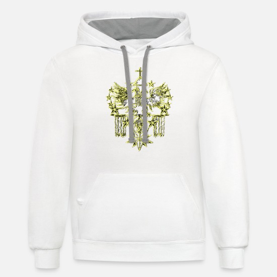 Grail Hoodies & Sweatshirts - In God we Trust 2 - Unisex Two-Tone Hoodie white/gray