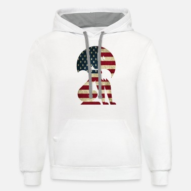 Graphic Art Fox america graphic art - Unisex Two-Tone Hoodie