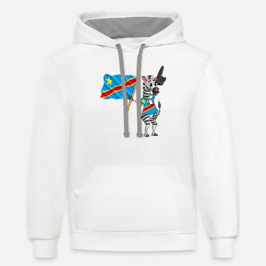 Congolese A Congolese Zebra - Unisex Two-Tone Hoodie