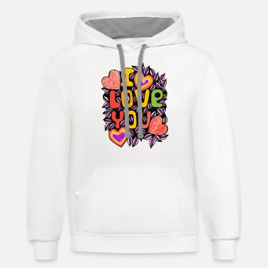 Rolling Cool with love | I Love Yourolling_coollov - Unisex Two-Tone Hoodie