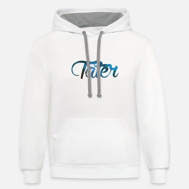 Blue Galaxy tater - Unisex Two-Tone Hoodie