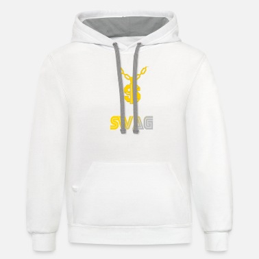 S letter swag chain - Unisex Two-Tone Hoodie