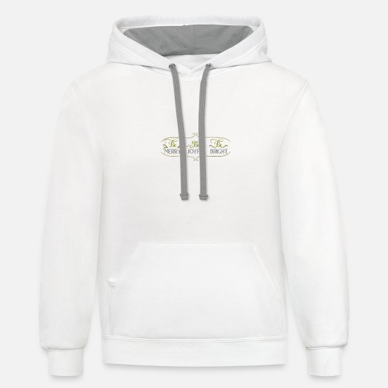 Golden Retriever Hoodies & Sweatshirts - Be merry be joyful be - Unisex Two-Tone Hoodie white/gray