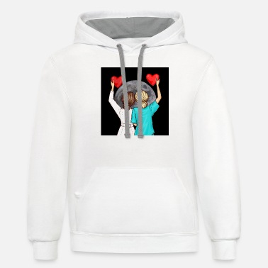 Vip Doctor Nurse And The Moon - Unisex Two-Tone Hoodie
