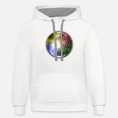 Disco Disco Ball - Unisex Two-Tone Hoodie