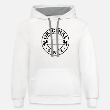 Miscellaneous original since + your year of birth - Unisex Two-Tone Hoodie