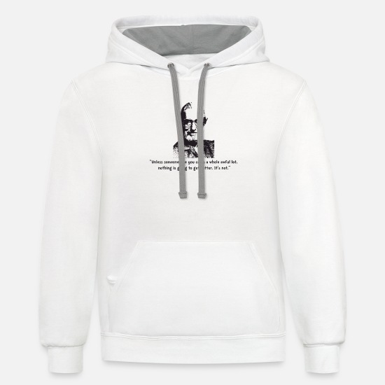 Quotes Hoodies & Sweatshirts - Seuss quote - Unisex Two-Tone Hoodie white/gray