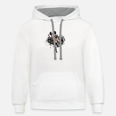 Gym Gift Idea SWAG Sport Hip Hop Music Training - Unisex Two-Tone Hoodie