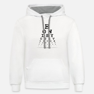 How is your vision eye snellen chart - Unisex Two-Tone Hoodie