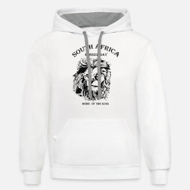 Africa lion south africa - Unisex Two-Tone Hoodie