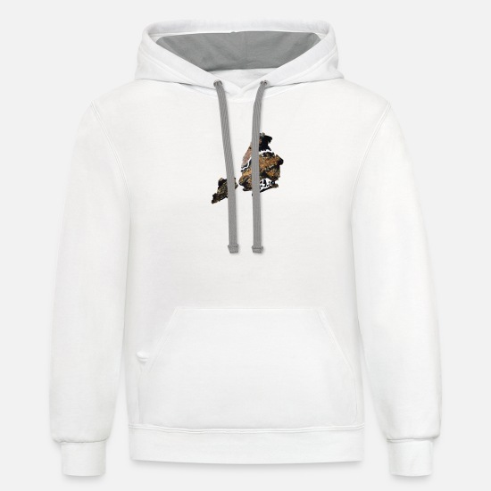 News Hoodies & Sweatshirts - NY NYC New York City USA Brooklyn Queens Broadway - Unisex Two-Tone Hoodie white/gray