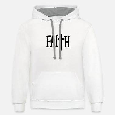 Christian Christian Faith Cross - Christian Gift - Unisex Two-Tone Hoodie