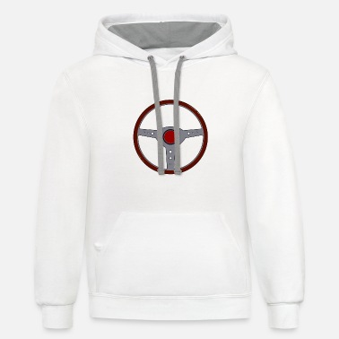 Vehicle Steering Wheel Car Driving Vehicle Speed Gift Idea - Unisex Two-Tone Hoodie