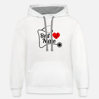 Best nurse T-Shirt - Unisex Two-Tone Hoodie