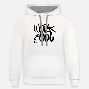 Work Out Work Out - Unisex Two-Tone Hoodie