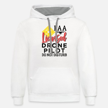 Pilot License Drone Pilot FAA Licensed - Unisex Two-Tone Hoodie