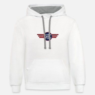 Numbered Air Force Airman And Proud - Air Force - Unisex Two-Tone Hoodie