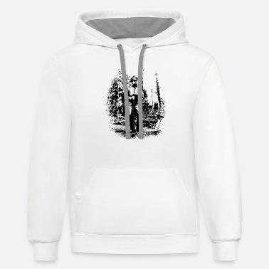 Forestry worker in timber harvest - Unisex Two-Tone Hoodie