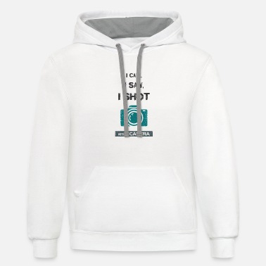 I came, i saw, i shot with my camera - Unisex Two-Tone Hoodie